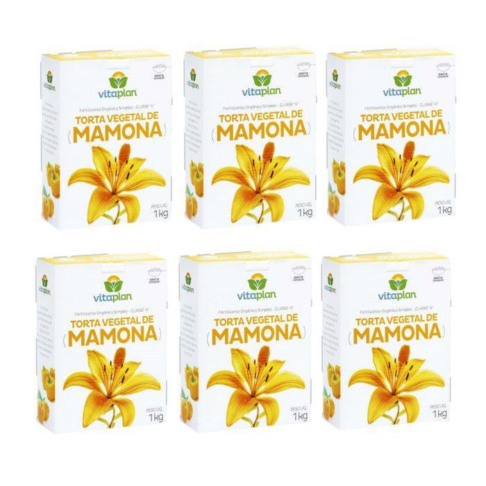 Torta mamona -  Vitaplan - kit 6 caixas 1 kg