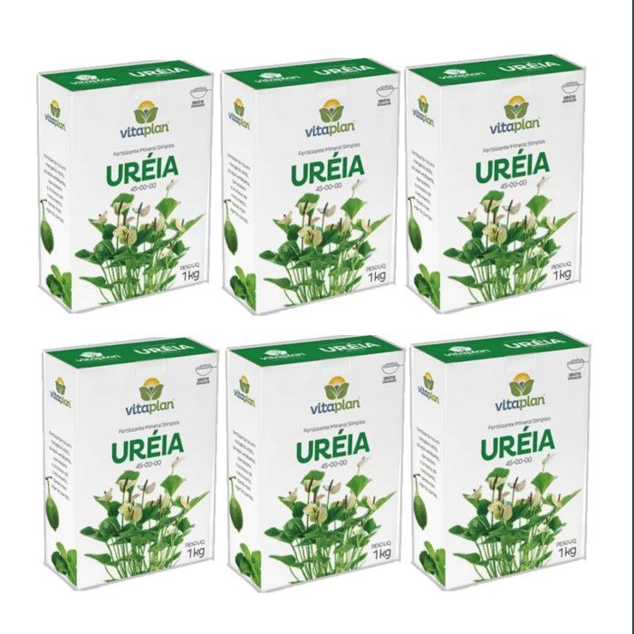Ureia -  Vitaplan - kit 6 caixas 1 kg + brinde