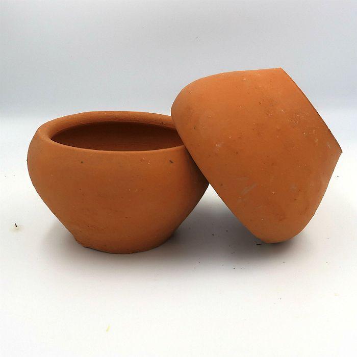 Vaso de barro - aquario - 11 x 7 cm - kit 06 unidades