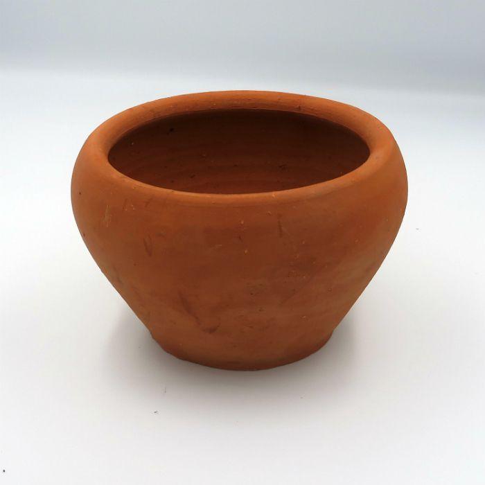 Vaso de barro - aquario - 15  x 10 cm - kit 12 unid