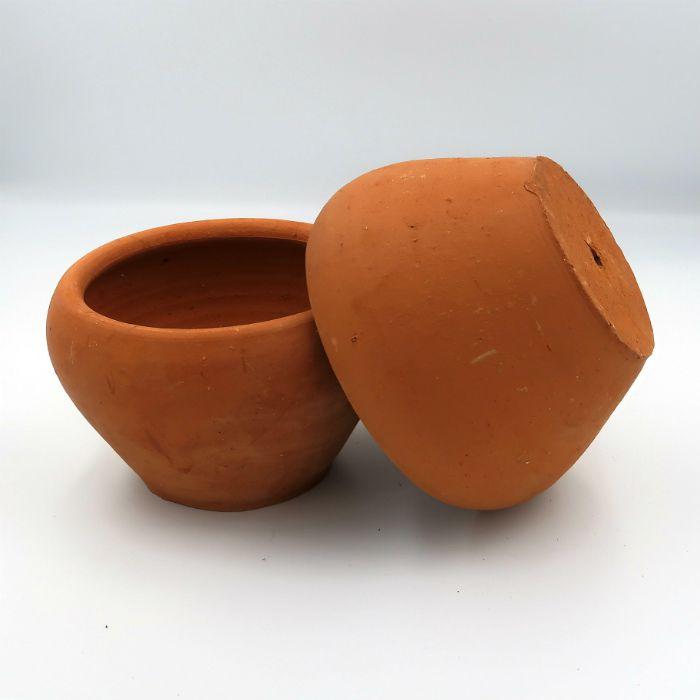 Vaso de barro - aquario - 15  x 10 cm - kit 3 unid