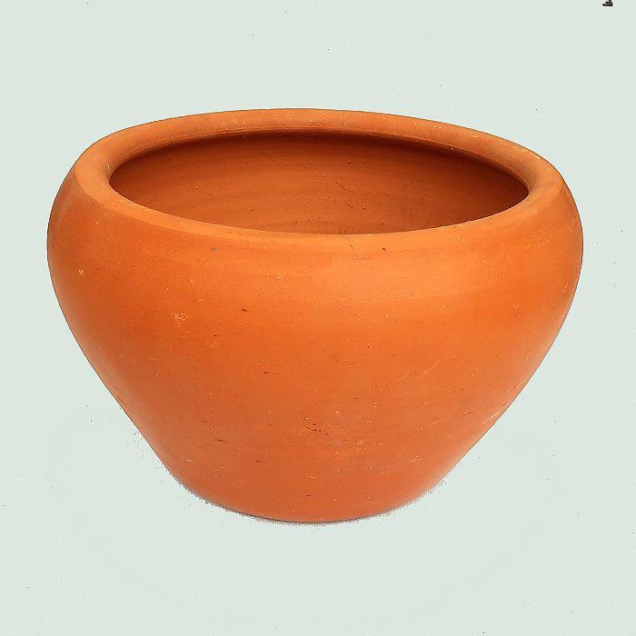 Vaso de barro - aquario - 24,5 x 14,5 cm