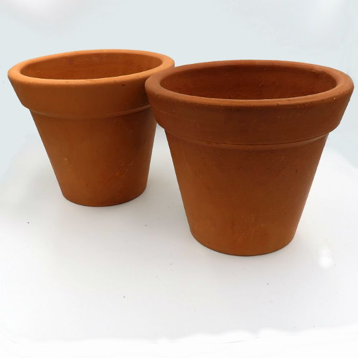 Vaso de barro - comum - 22 x 18 cm - kit 03 unid