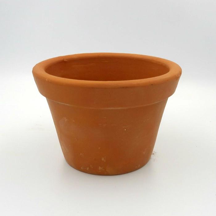 Vaso de barro - modelo violeta - 9 x 14 cm