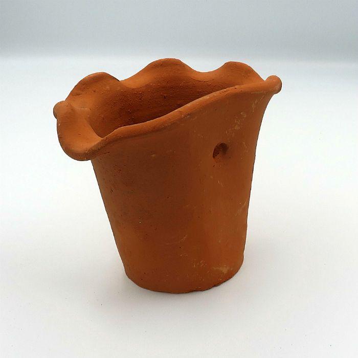 Vaso de barro - orquidea - 13 x 17 cm - kit 02 unid