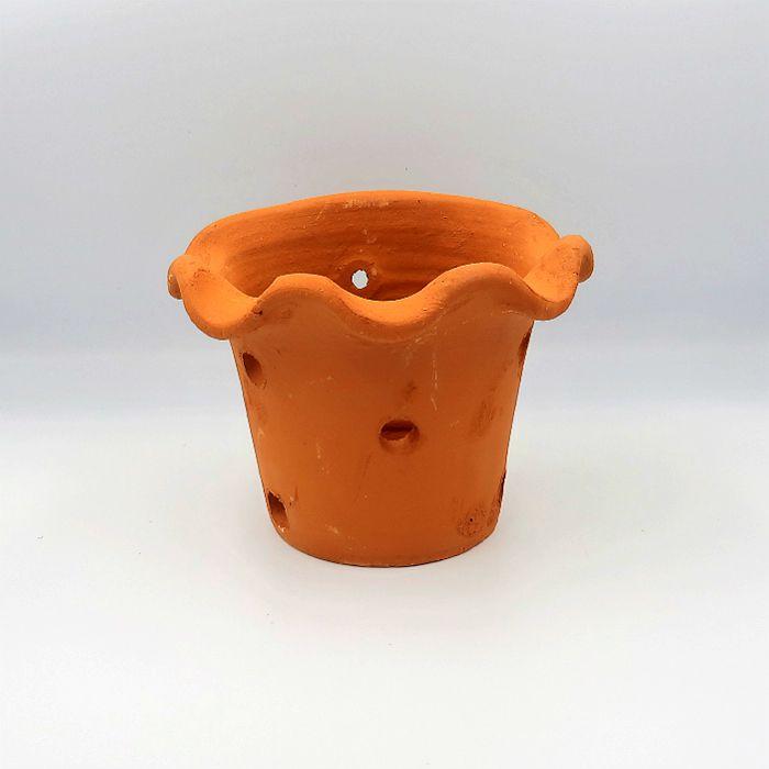 Vaso de barro - orquidea - 14 x 20 cm - kit 02 unid