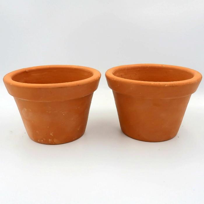 Vaso de barro - violeta - 09 x 14 cm - kit 06 unid