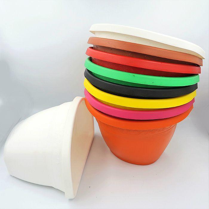 Vaso de parede - 23 cm - kit colorido - 06 unidades
