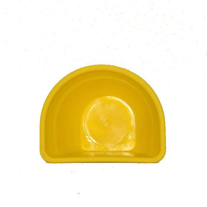 Vaso de parede - amarelo - 15 cm - Kit 24 un + brinde