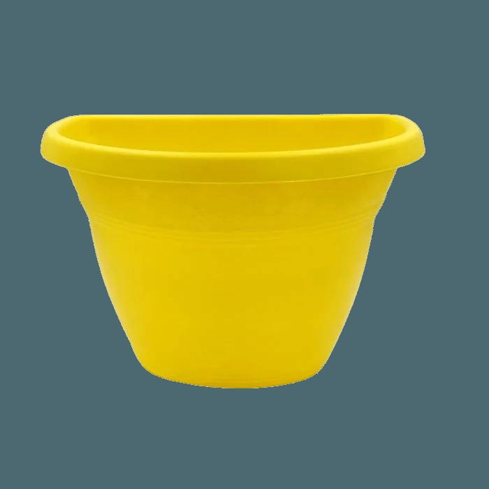 Vaso de parede - amarelo - 17 X 23 cm - Kit 10 un