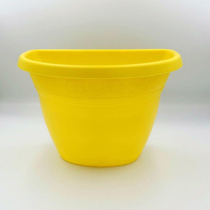 Vaso de parede - amarelo - 17 X 23 cm - Kit 05 un
