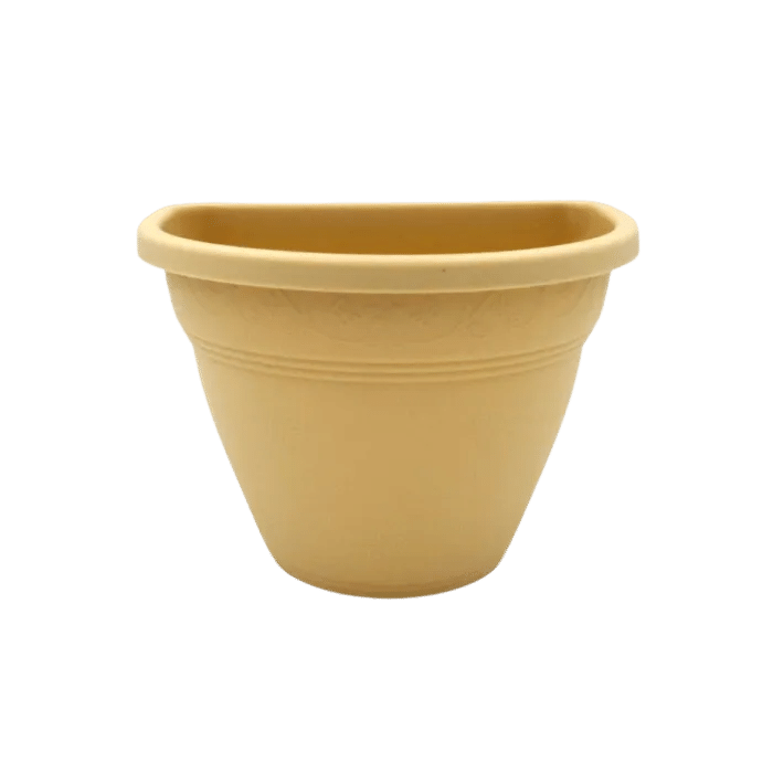 Vaso de parede - areia - 11 x 15 cm - Kit 05 un