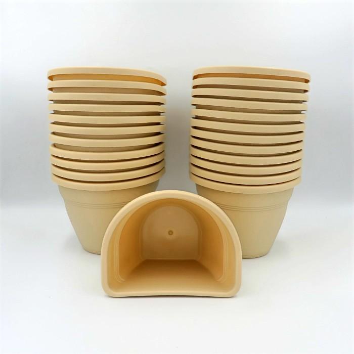 Vaso de parede - areia - 11 x 15 cm - Kit 24 unid