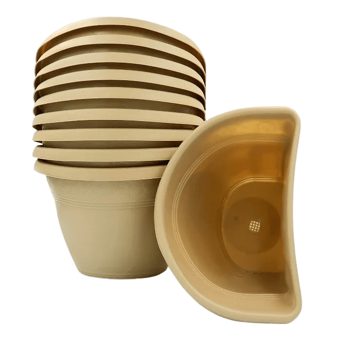 Vaso de parede - areia - 17 X 23 cm - Kit 10 un