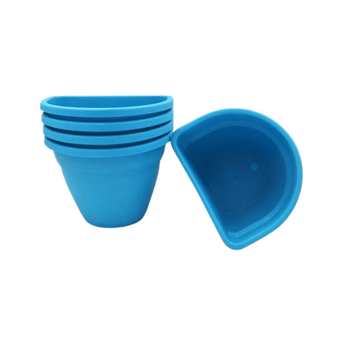 Vaso de parede - azul - 11 x 15 cm - Kit 05 un