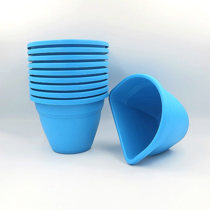 Vaso de parede - azul - 11 x 15 cm - Kit 10 un