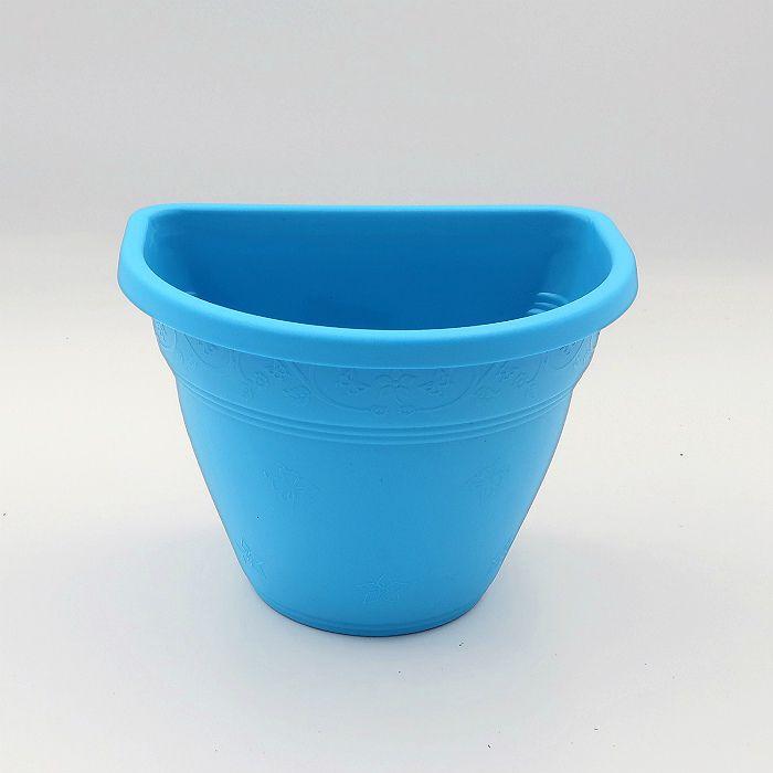 Vaso de parede - azul - 11 x 15 cm - Kit 24 un
