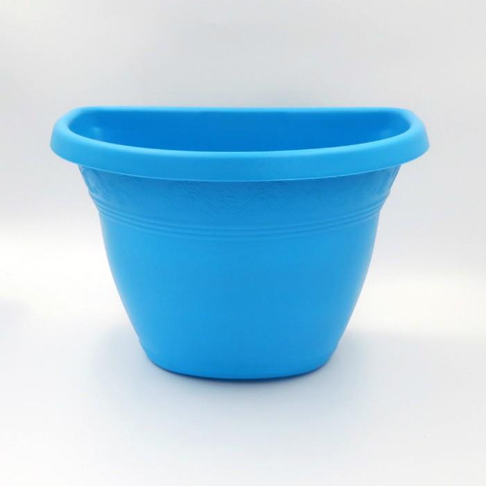 Vaso de parede - azul - 17 x 23 cm - Kit 10 un