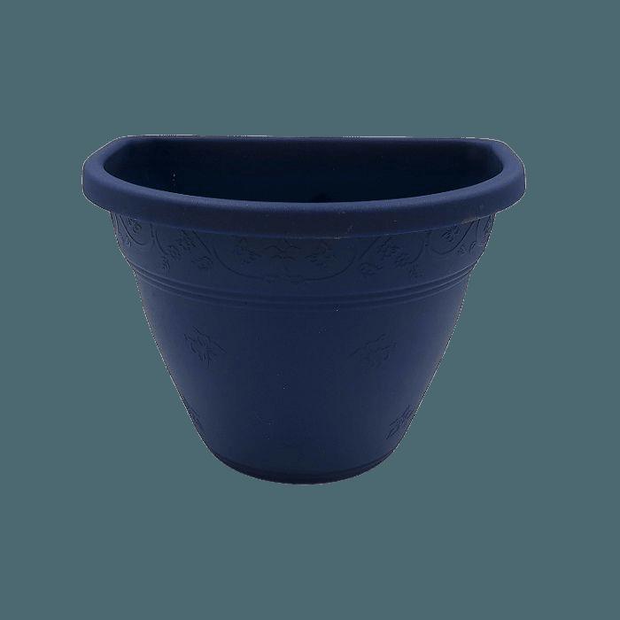 Vaso de parede - azul marinho - 11 x 15 cm