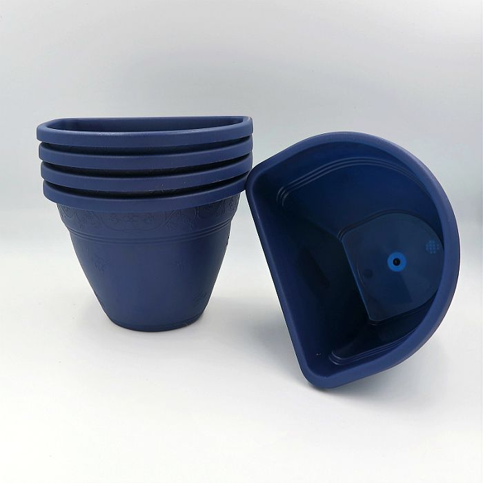 Vaso de parede - azul marinho - 11 x 15 cm - Kit 05 un
