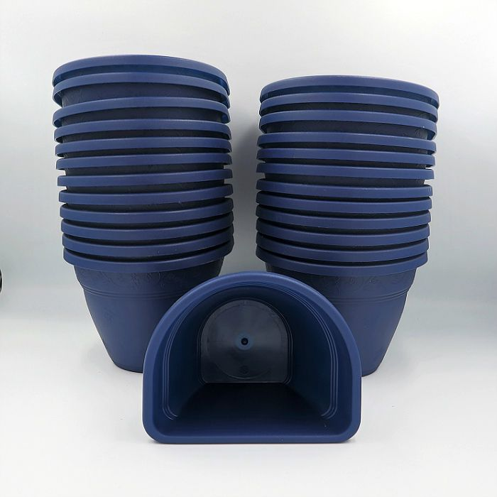 Vaso de parede - azul marinho - 11 x 15 cm - Kit 24 un