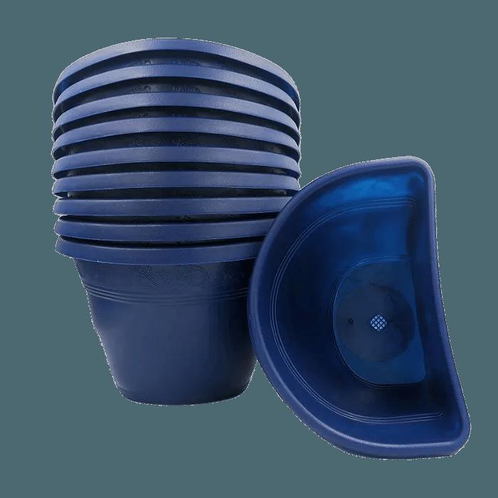 Vaso de parede - azul marinho - 17 x 23 cm - Kit 10 un