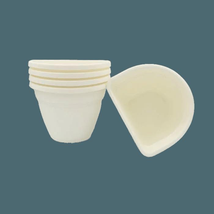 Vaso de parede - branco - 11 x 15 cm - Kit 05 un