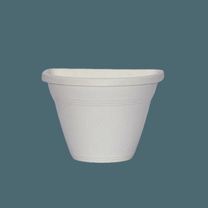 Vaso de parede - branco - 11 x 15 cm - Kit 15 un