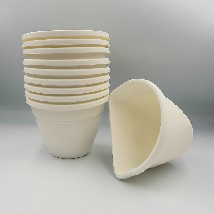 Vaso de parede - branco - 11 x 15 cm - Kit 10 un