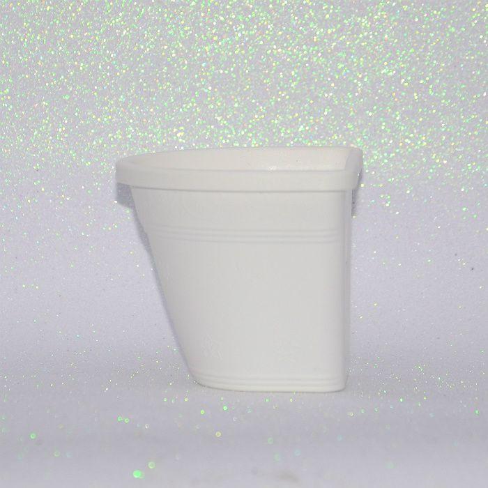 Vaso de parede - branco - 15 cm - Kit 24 un + brinde