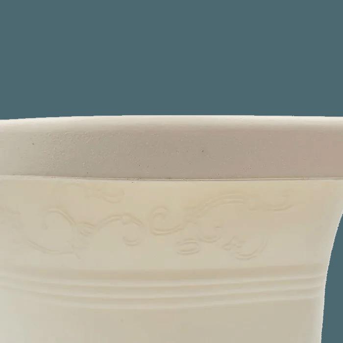 Vaso de parede - branco - 17 x 23 cm - Kit 05 un