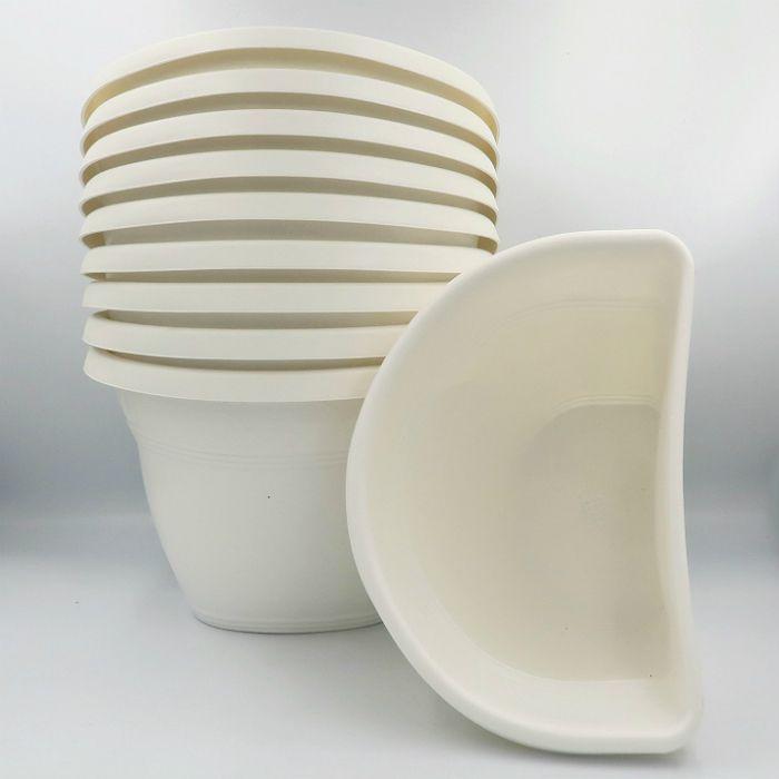Vaso de parede - branco - 17 x 23 cm - Kit 10 un