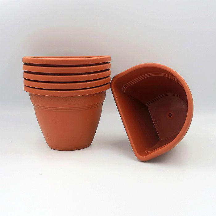 Vaso de parede - cerâmica - 11 x 15 cm - Kit 05 un + brinde