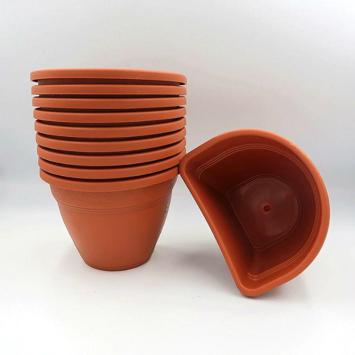 Vaso de parede - cerâmica - 11 x 15 cm - Kit 10 un + brinde