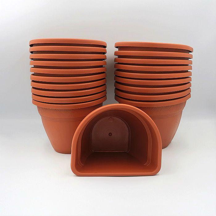 Vaso de parede - cerâmica - 11 x 15 cm - Kit 24 un + brinde