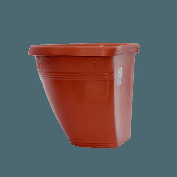 Vaso de parede - ceramica - marrom - 17 x 23 cm
