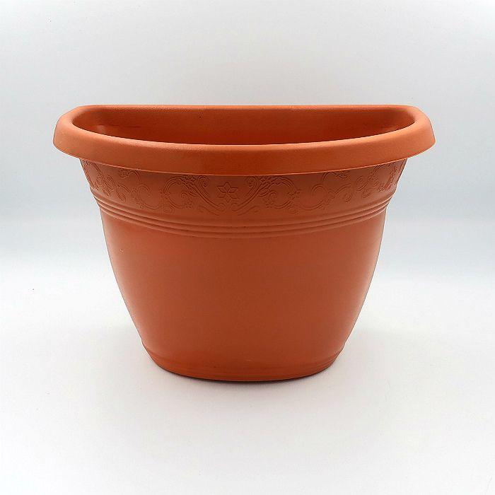 Vaso de parede - marrom - 17 x 23 cm - Kit 10 un