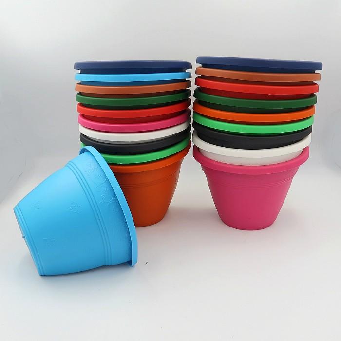 Vaso de parede - colorido - 15 cm - Kit 26 un