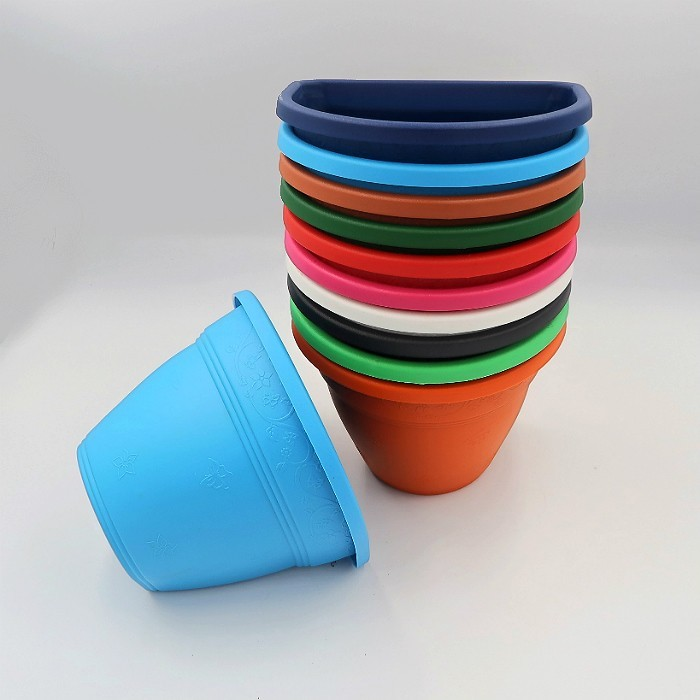 Vaso de parede - kit colorido - 11 x 15 cm - 05 unidades