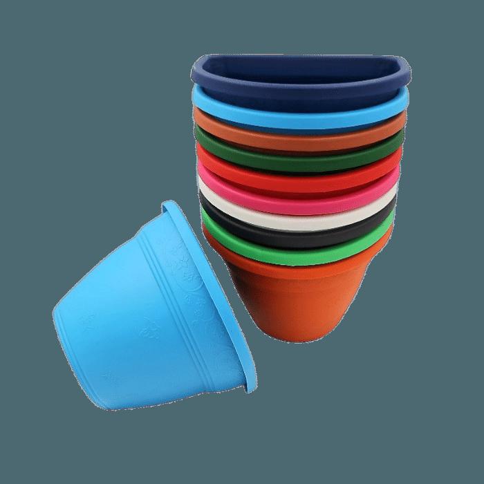 Vaso de parede - kit colorido - 11 x 15 cm - 06 unidades