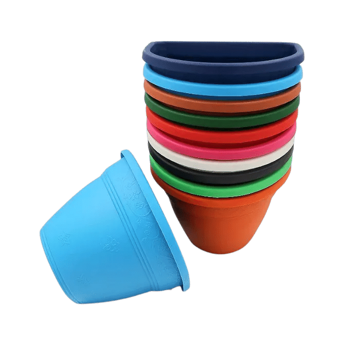 Vaso de parede - kit colorido - 11 x 15 cm - 12 unidades