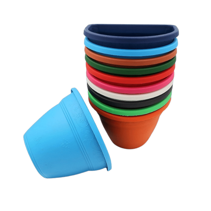 Vaso de parede - kit colorido - 11 x 15 cm - 16 unidades