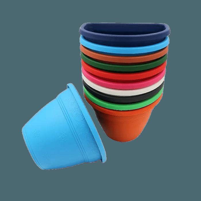 Vaso de parede - kit colorido - 11 x 15 cm - 24 unidades