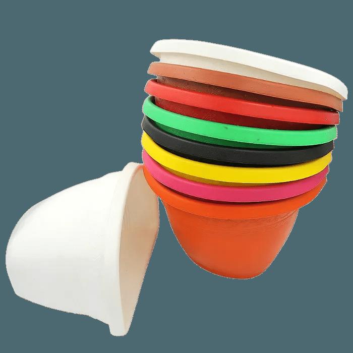 Vaso de parede - kit colorido - 17 X 23 cm - 10 unidades