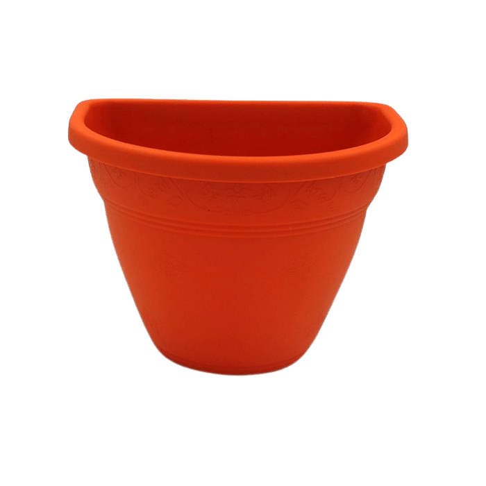Vaso de parede - laranja - 11 x 15 cm