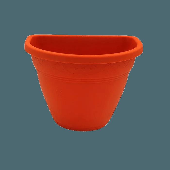 Vaso de parede - laranja - 11 x 15 cm - Kit 05 un