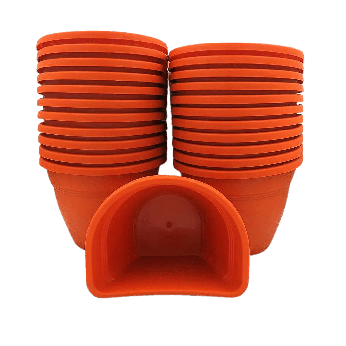 Vaso de parede - laranja - 11 x 15 cm - Kit 24 un