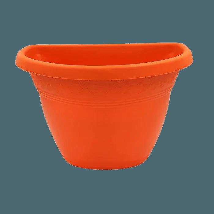 Vaso de parede - laranja - 17 x 23 cm - Kit 05 un