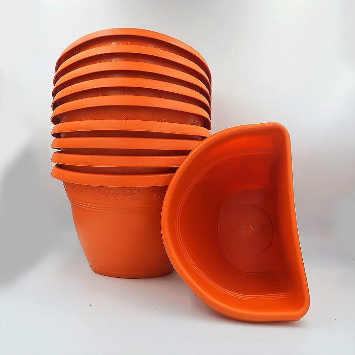 Vaso de parede - laranja - 17 x 23 cm - Kit 10 un