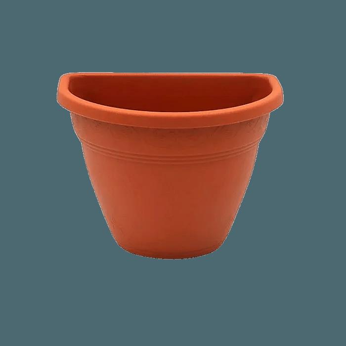Vaso de parede - marrom - 11 x 15 cm - Kit 05 unid